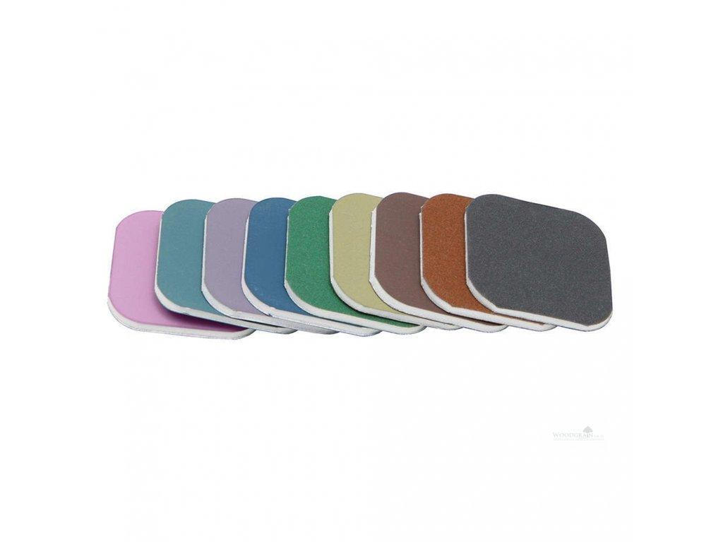 Brusné polštářky Micro Mesh - barevné značení (9 kusů) 50 x 50 mm