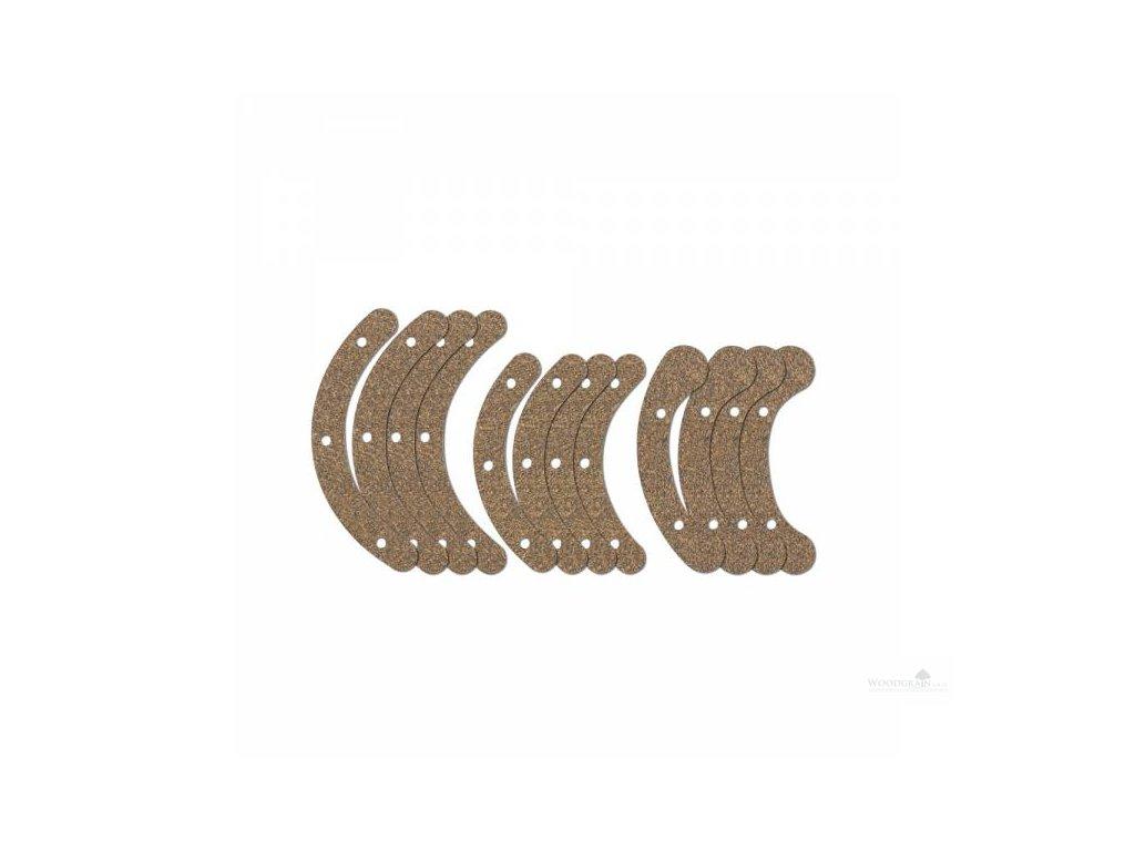 Sada korkových podlepek pro obvodové šrouby - 12 ks