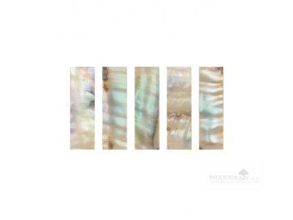 Perleťový krycí plátek žabky - Makassar barevný (sada 5 ks)