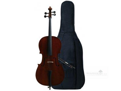 Violoncellový komplet - hratelné provedení z dílny GEWA - garnitura tvrdé dřevo