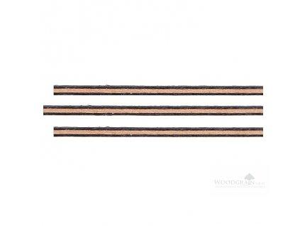 Sada výložek (rovné, javor/hruška/javor, délka 800 mm)