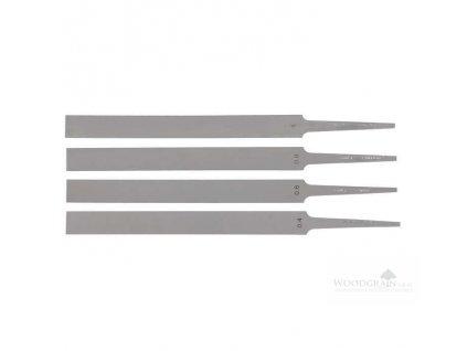 Pilníky Grobet pražcové - Délka seku 100 mm, šířka 10 mm, sek 2 - sada 4 ks