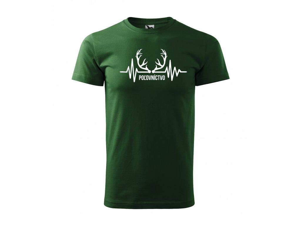 b62866da900e3 Pánske tričko Moje srdce bije pre poľovníctvo - Sexitričko.sk