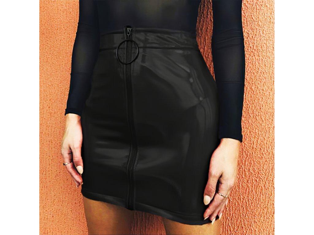 Sexy sukně mini černá KONA21 zpředu 1