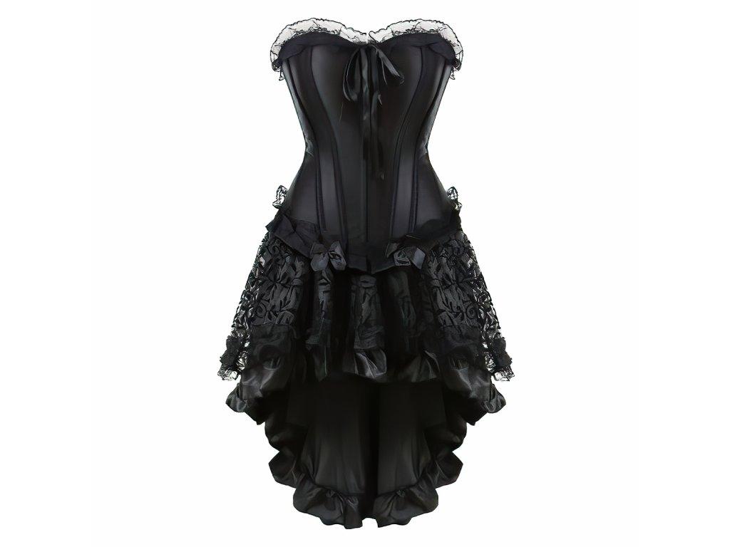 Sexy korzet černý a sukně SENY9 zpředu 1