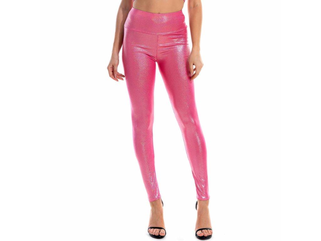 Sexy legíny metalické růžové PANA8 zpředu 1