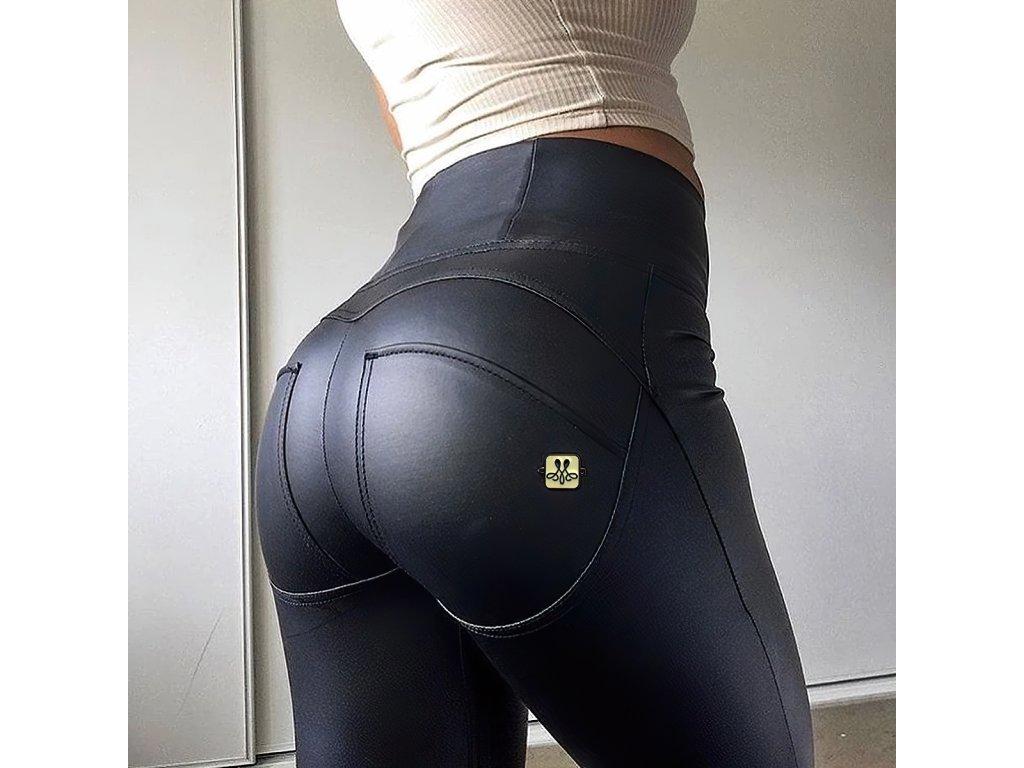 Sexy kalhoty matné černé LILA11 zboku detail 2