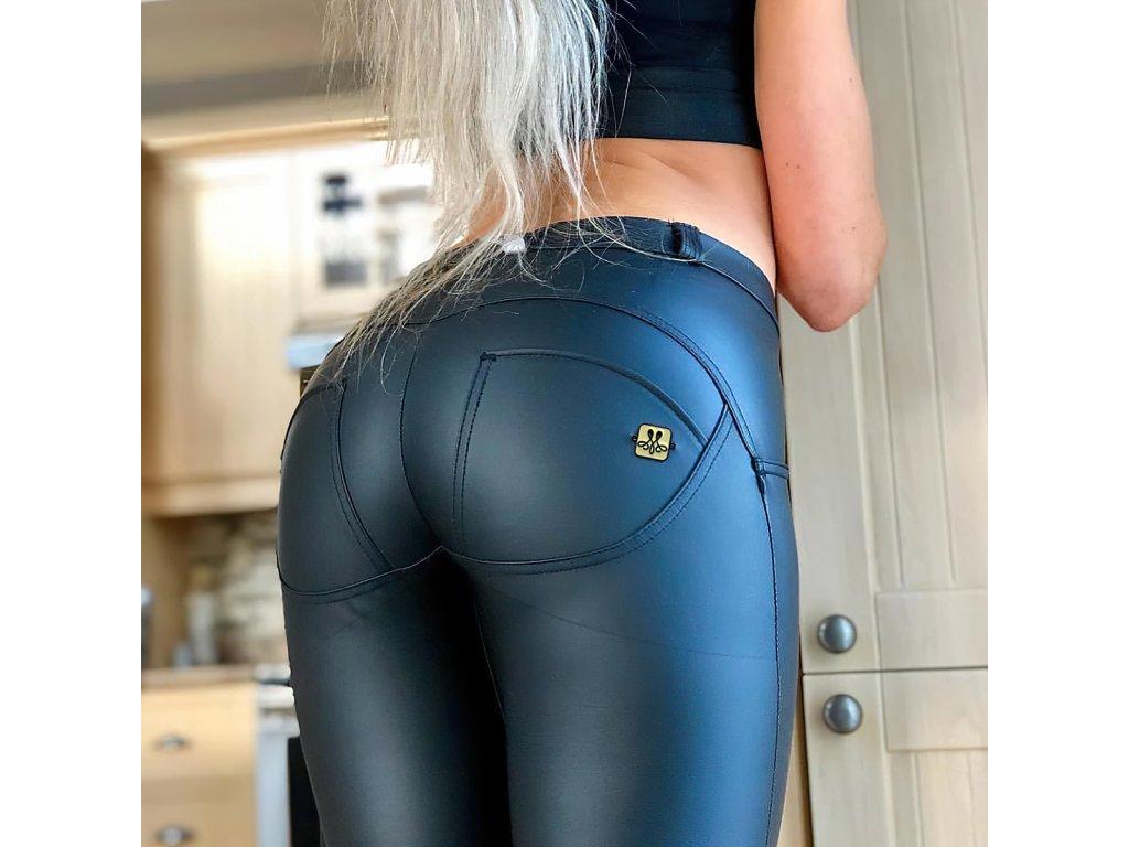 Sexy kalhoty středně modré LILA14 zezadu detail 1