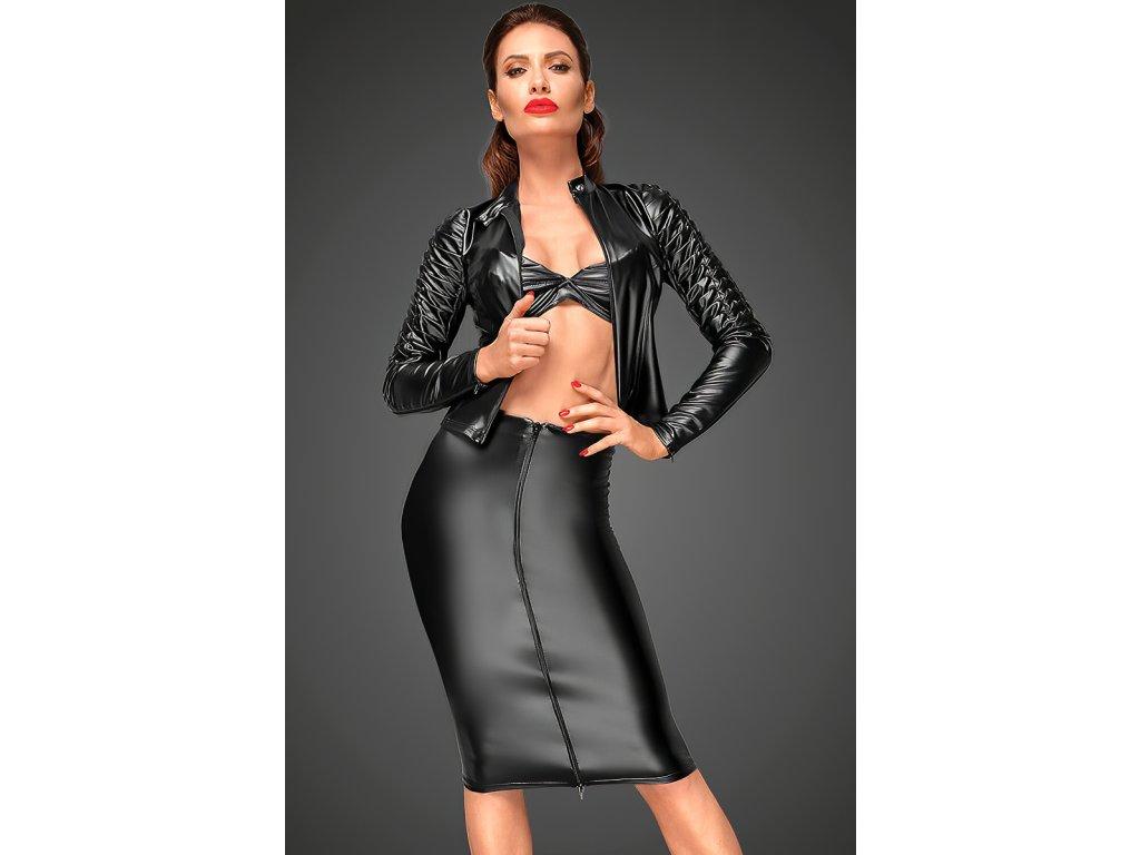 Sexy sukně střední černá JINA 1 zpředu 1