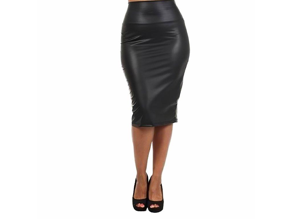 Sexy sukně střední černá LOVA 3 zpředu 1