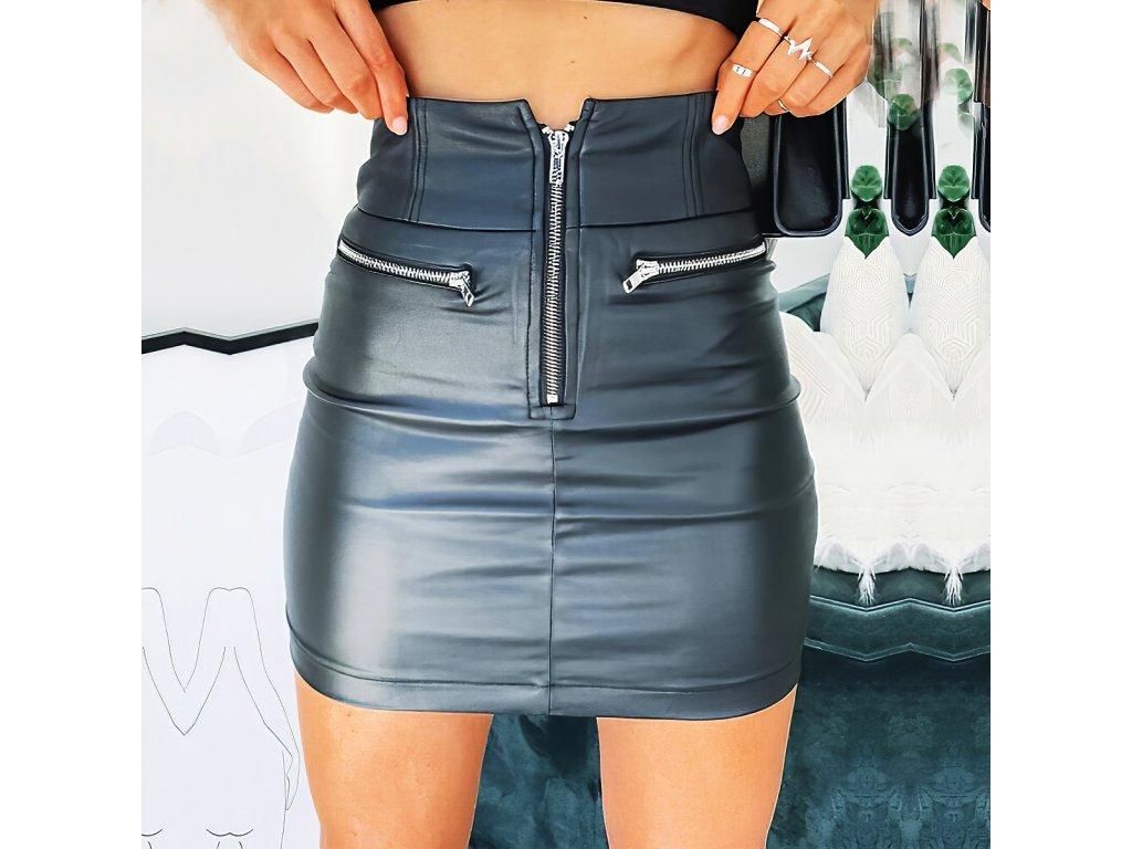 Sexy sukně mini černá KONA 9