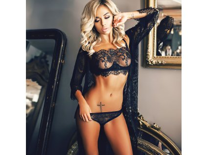 Sexy komplet krajkový černý LUCY 4 zpředu 1