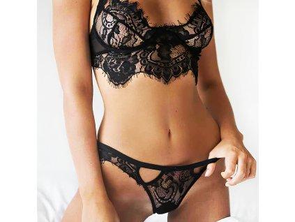 Sexy komplet krajkový černý LUCY 6 zpředu 1