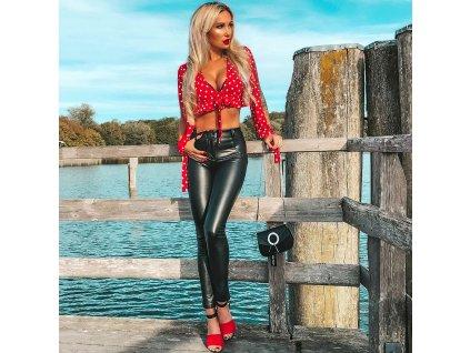 Sexy kalhoty černé LILA 1 zpředu 1