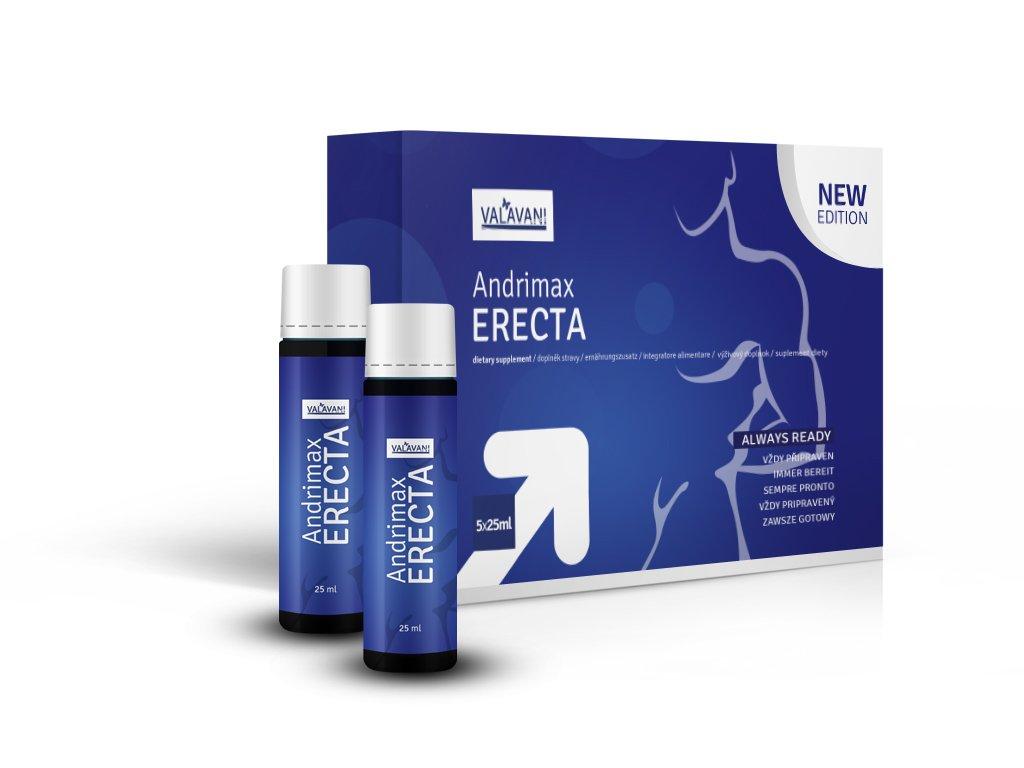 Andrimax ERECTA 5x25ml  - Doplněk stravy pro podporu erekce