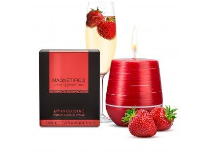 Afrodiziakální svíčka Magnetifico Sweet strawberries