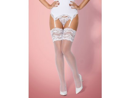 Punčochy 810-STO white stockings - Obsessive