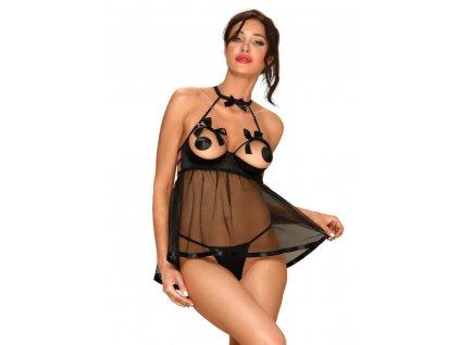 Pikantní košilka Delishya babydoll black - Obsessive