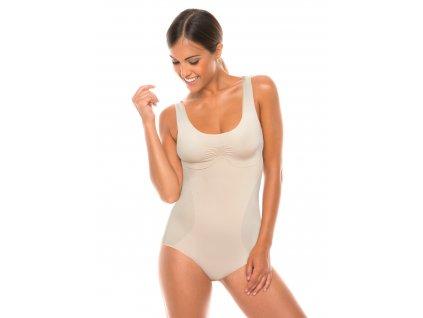 Body dámské stahovací bezešvé Body spalla larga Bodyeffect Oro - Intimidea