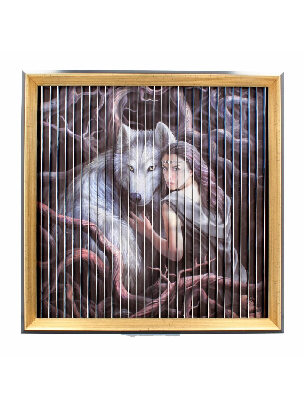Anne Strokes wolves kinetic picture 43 cm