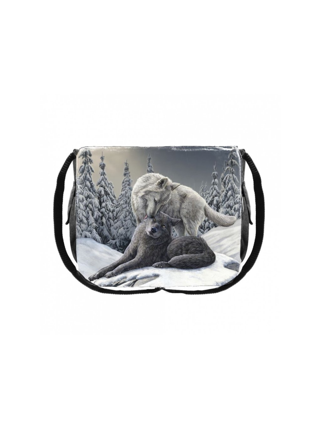 snow kisses messenger bag 40cm