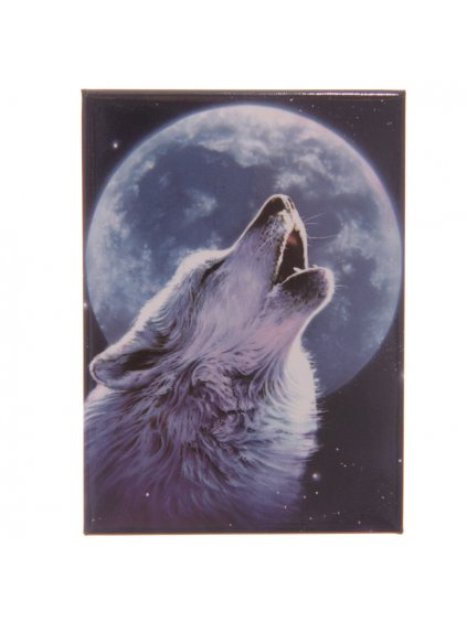 Wolf Print Metal Magnets2