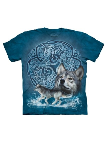 Celtic Wolf Animals T Shirt by the Mountain