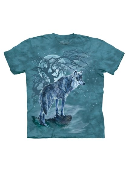 Wolf Tree Silhouette Animals T Shirt by the Mountain
