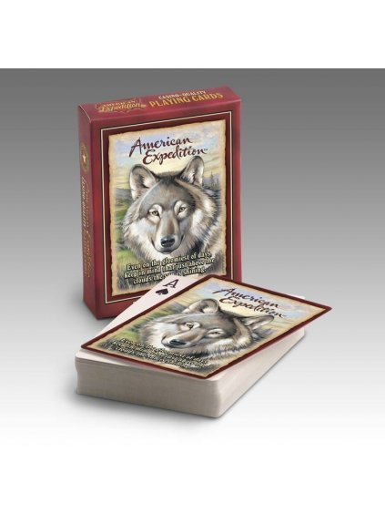 Gray Wolf Wildlife Playing Cards