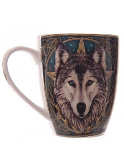 lp wolf head new bone china mug
