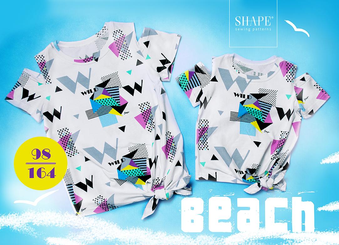 Návod na šití tričko BEACH