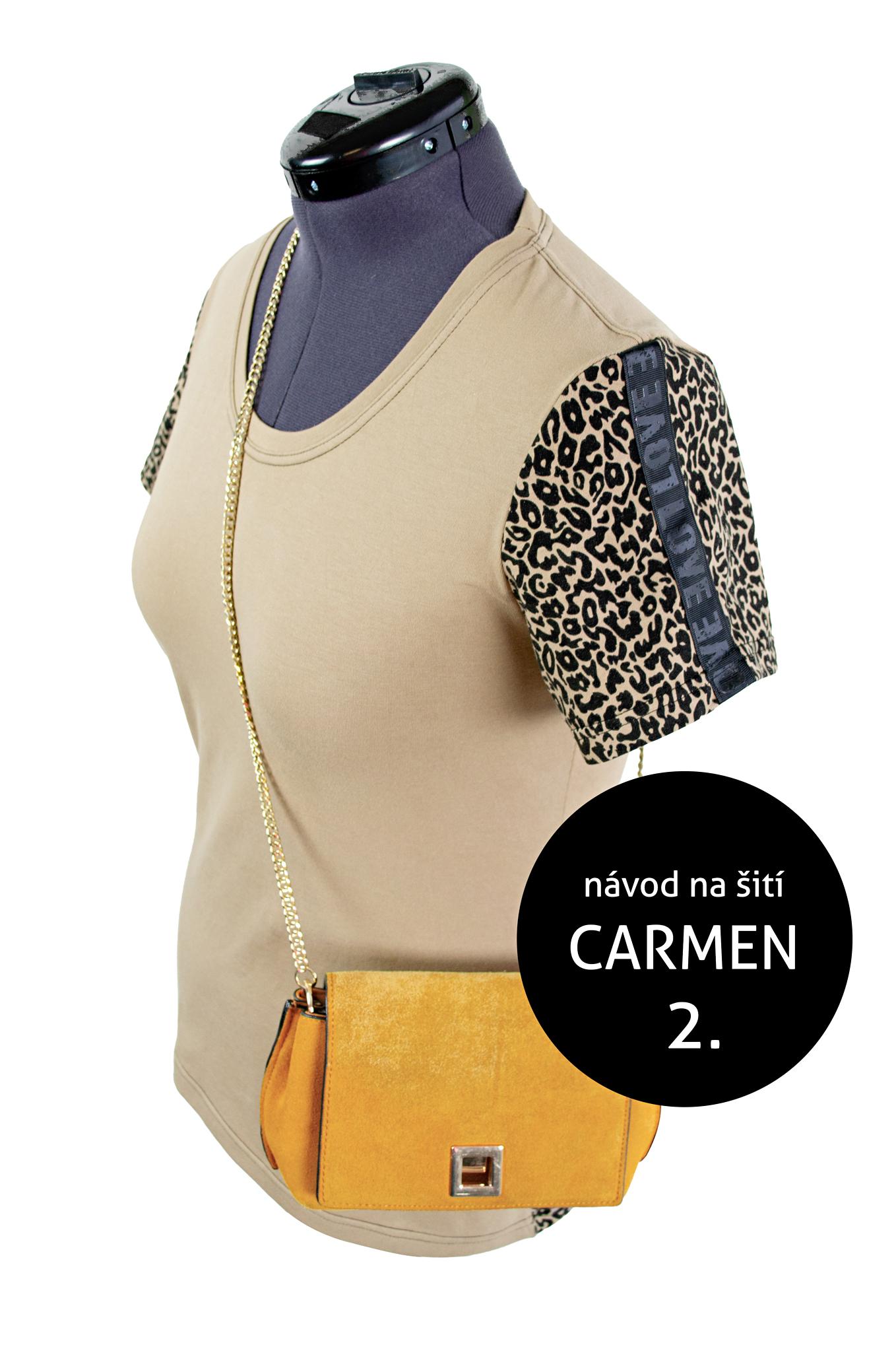 Návod na šití triko CARMEN - hladký rukáv