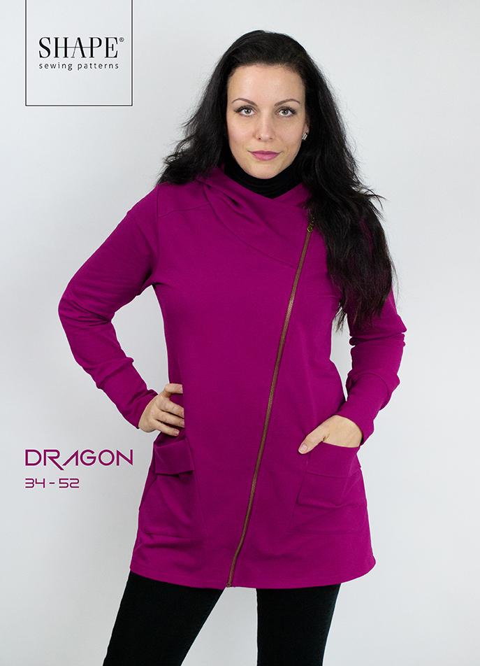 Návod na šití mikina DRAGON - kapuce