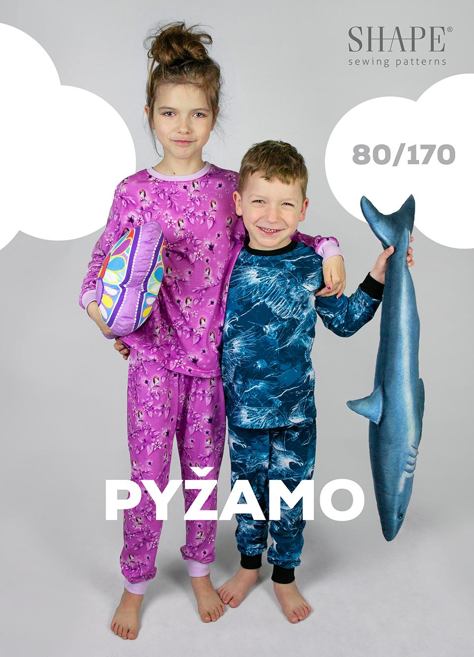 Střih ZDARMA na dětské pyžamo vel. 80 - 170