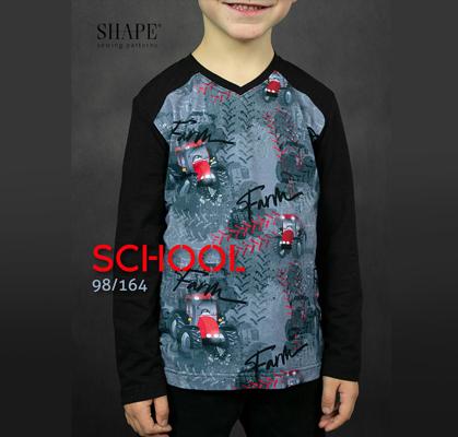 Návod na šití chlapecké triko SCHOOL