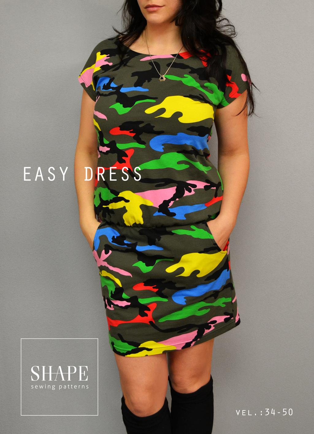 Návod na šití: střih easy dress