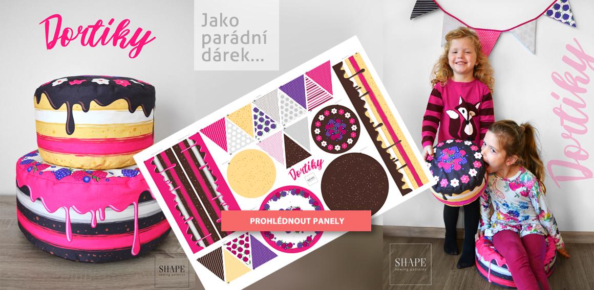 Textilní panel Dorty