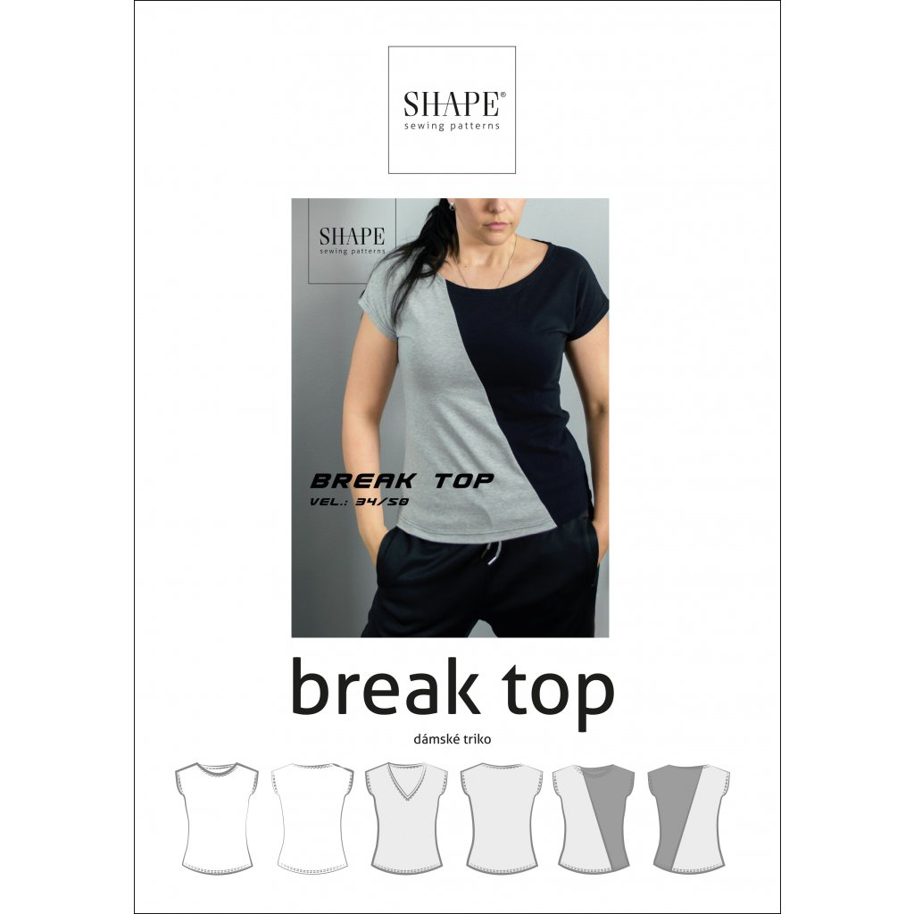 SHAPE break top papirovy strih