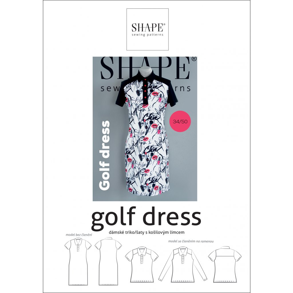 SHAPE golf dress 34 50 papir