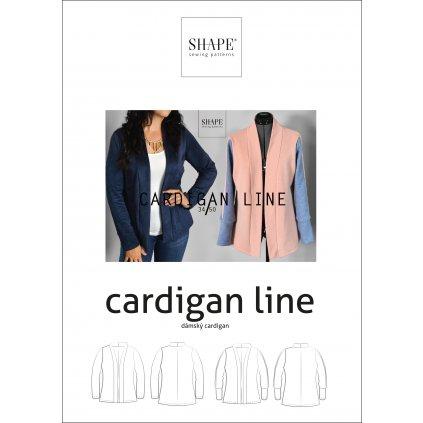 SHAPE cardigan line papirovy strih