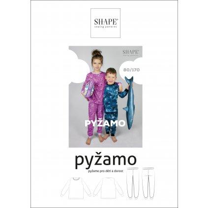 SHAPE pyžamo papírový střih