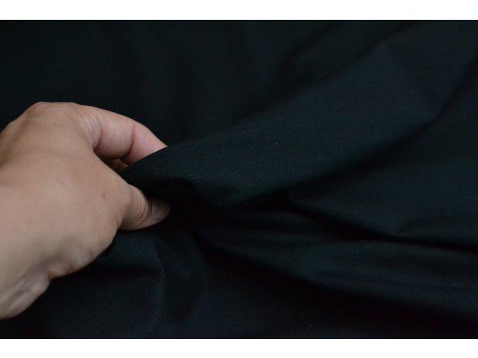 elastický úplet černý šíře 180cm