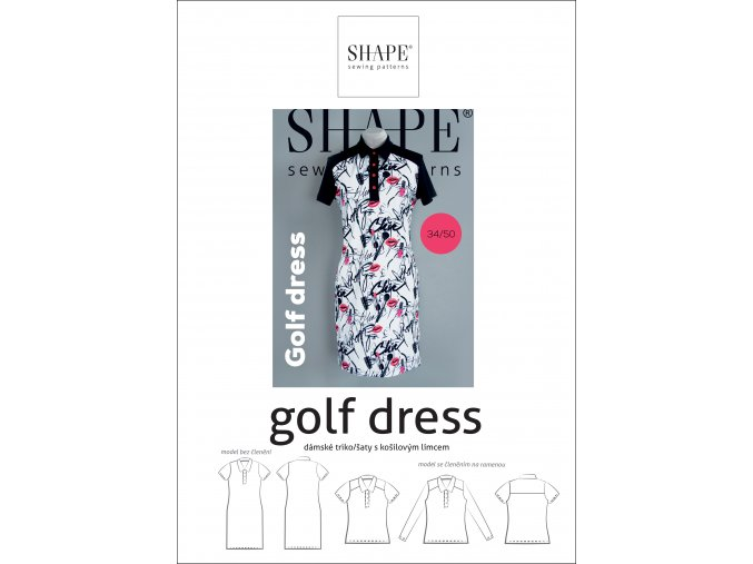 SHAPE golf dress 34 50 papir