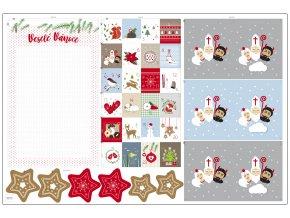 textilní panel Veselé Vánoce