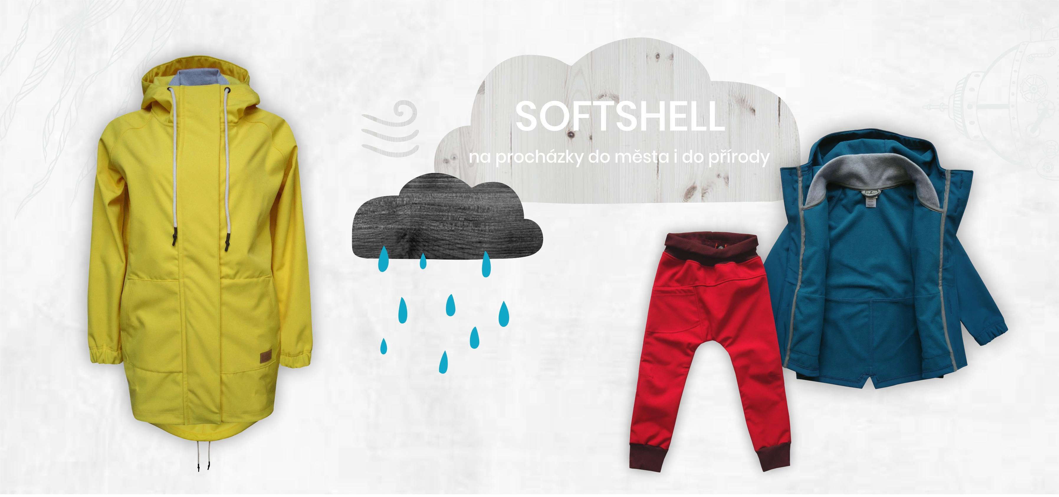 Softshellové bundy a kalhoty pro děti