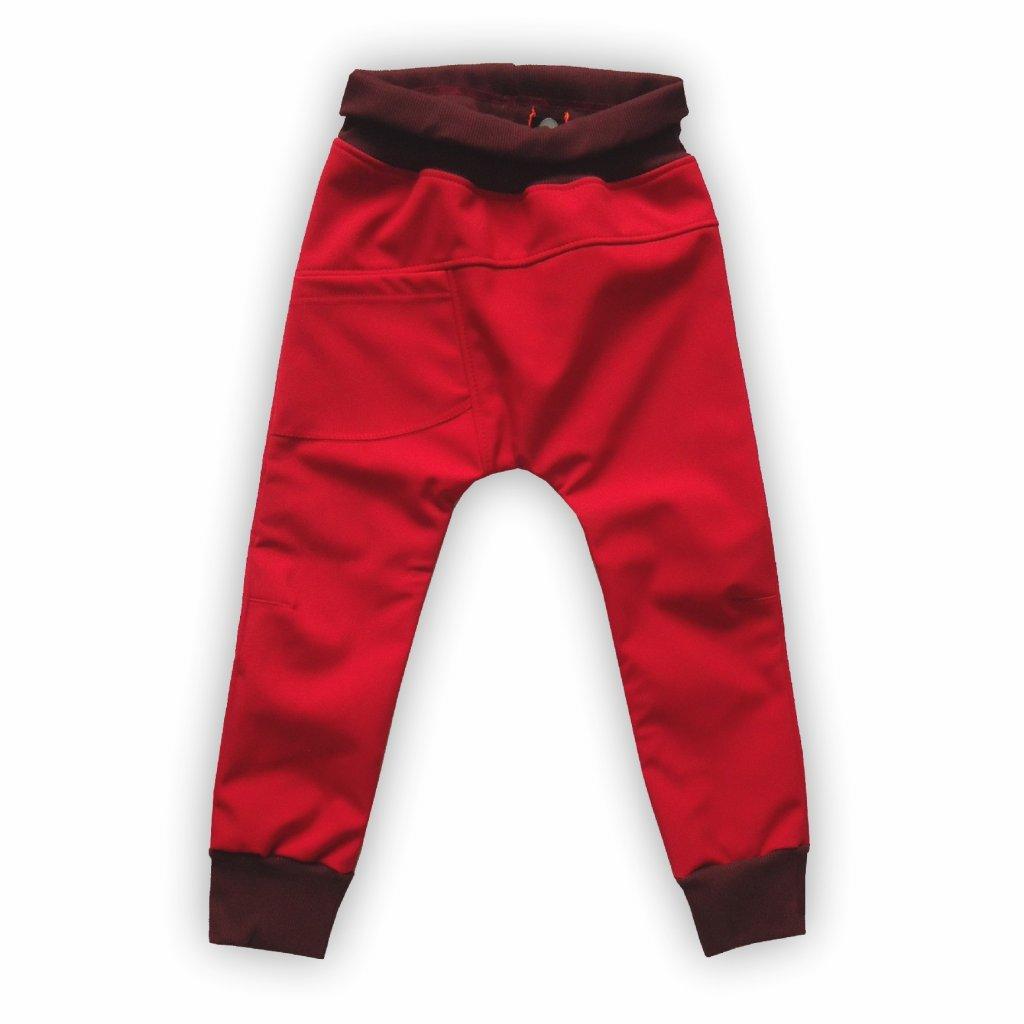 Softshellové kalhoty červená 1