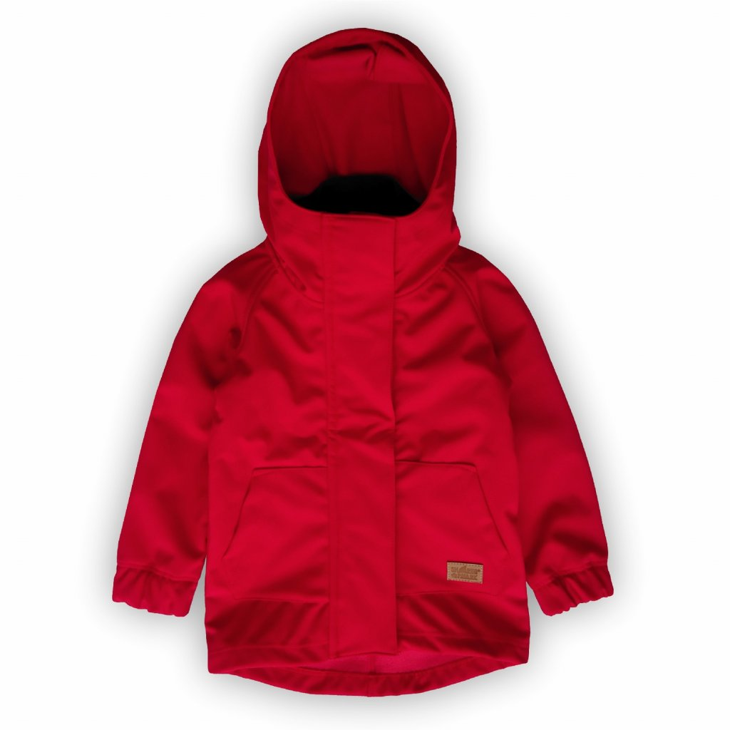 Softshellová bunda červená 1
