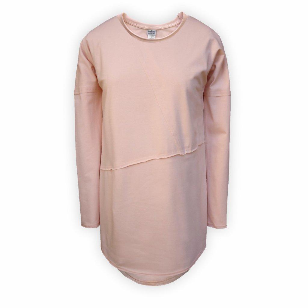damske triko dlouhe svetle ruzova 1