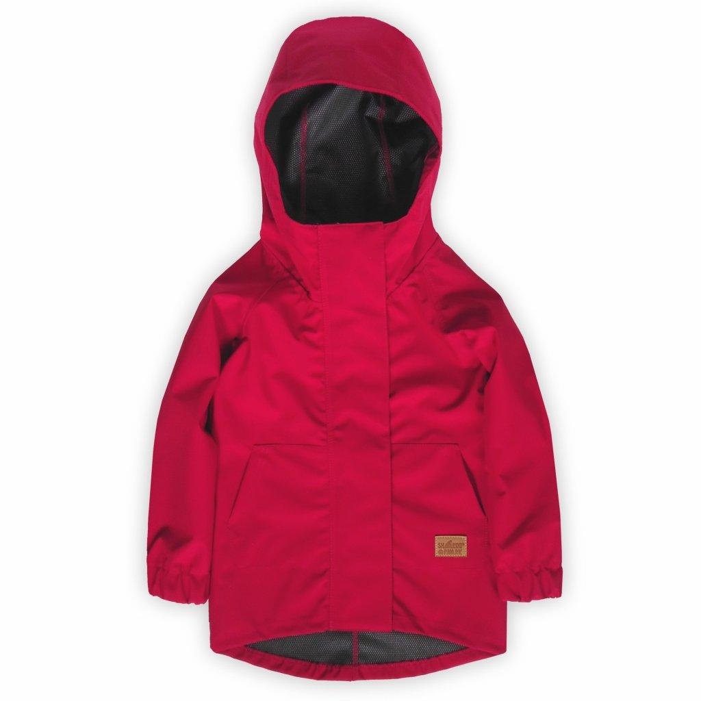 Dětská bunda softshell červená 1