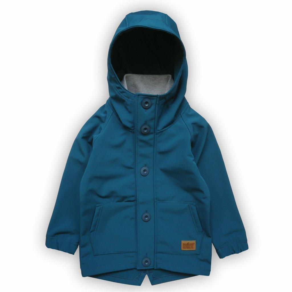 Softshellová bunda tyrkysově modrá 1